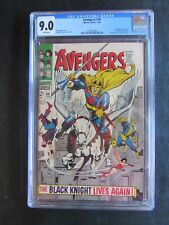 Avengers 48 CGC 9.0 White Pages Black Knight MCU Eternals Kit Harrington