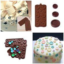 DIY Silicone Mold Button Baking Tool Cake Fondant Decorating Mold Sugarcraft AU