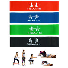 4Pcs Elastic Resistance Loop Bands Exercise Yoga Fitness Gym Training Carry Case