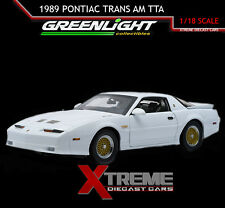 "GREENLIGHT 12932 1:18 1989 PONTIAC ""TURBO"" TRANS AM TTA HARD TOP WHITE"