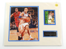 Stephon Marbury Knicks Matted Photo Relic Card Name Plate 11x14 For Framing