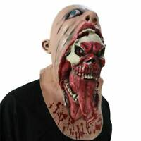 Halloween Zombie Mask Melting Face Latex Costume Dead Scary Head Masks Bloody J