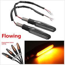 2Pcs 12V Universal 12 LED Amber Flowing Motorcycle Turn Signal Indicator Lights