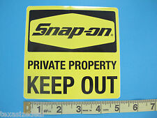 "Genuine Official Snap On Tools PRIVATE PROPERTY - KEEP OUT Sticker Decal 5"" -NEW"