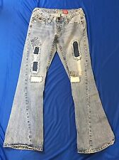 Vanilla Star Boot Cut Jeans Distressed Patchwork Juniors Size 5 Jeans