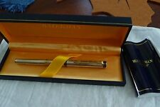 WATERMAN EXCLUSIVE SILVER & GOLD TRIM  ROLLERBALL PEN   NEW IN BOX