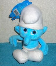 "SMURFS CLUMSY SMURF 7"" PLUSH BEAN BAG TOY"
