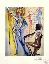 SALE!!!   RARE SALVADOR DALI SIGNED Ltd Ed FASHION DESIGNER w/COA GICLEE
