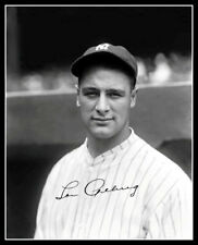 Lou Gehrig #14 Autographed Repro Photo 8X10 - 1927 New York Yankees