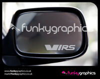 SKODA FABIA OCTAVIA VRS MIRROR DECALS STICKERS GRAPHICS x 3 IN SILVER ETCH