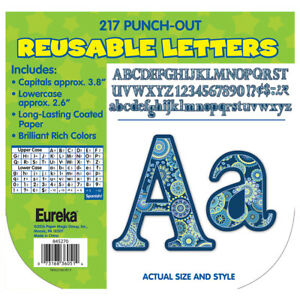 EU 845270 Blue Harmony Punch Out Letters Classroom Decorations