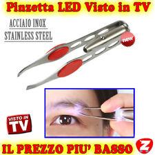 LED PINZETTA TWEEZERS PROFESSIONALE SOPRACCIGLIA PINZA DI PRECISIONE LUCE PELI f