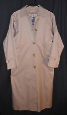 Women's Burberry Full Length Rain Coat Trench Zip Out Novacheck Liner 4 X Long