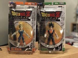 "2007 Dragon Ball Z Fusion Saga / Reborn VEGITO & SS VEGETA 6"" figure by JAKKS"
