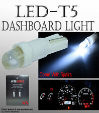 ABL 10 pcs Pure White T5 1 SMD 5050 Dashboard Wedge LED Car Light Bulbs LampA#1L