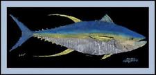Realfish Gyotaku Series Yellowfin Tuna  Fish Mat Floor Mat Doormat 18x40