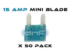 50 PACK 15 AMP ATS/ATC MINI BLADE 12V AUTOMOBILE FUSE - FREE SAME DAY SHIPPING!
