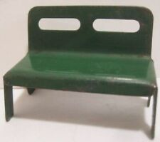 Old Miniature 1950s Pressed Steel Bench for Christmas Village House or Train
