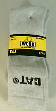 CAT ( 3 Pair ) Real Work Crew Socks Size 10-13 High Quality Caterpillar  All New