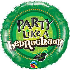 "ST PATRICK'S DAY PARTY SUPPLIES 18"" PARTY LIKE A LEPRECHAUN FOIL BALLOON"