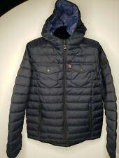 Levis Ultra Loft Down Alternative Winter Puffer Jacket Small Blue MSRP $160
