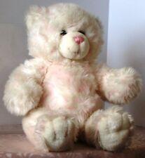 "BAB Build A Bear WHITE w. Muted PINK Tie DYE TEDDY  BEAR 15"""