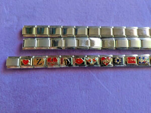 Nomination Bracelet 16 Charms 31 Links Stainless Steel