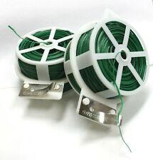 Lot Two 328Ft 100M Kitchen Bag Gardening Plant Twist Tie Wire Roll W/Wire Cutter