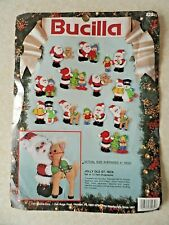 More details for bucilla jolly old st. nick  kit 82932 unused. 1991 all complete.