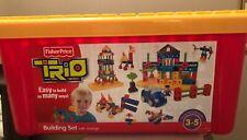 Fisher Price TRIO Building Set w/ Storage Tub 100 Pieces