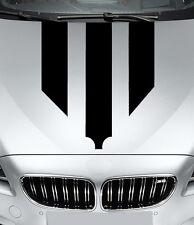 Aufkleber  Motorhaubenstreifen schwarz glanz - Folien Set -  streifen folie