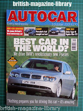 Autocar 3/10/2001 TVR Tamora Road Test: Honda Civic Type-R vs Renault Clio Sport