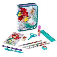Nuevo Disney Store Ariel La Sirenita Zip Up Relleno Estuche Flounder