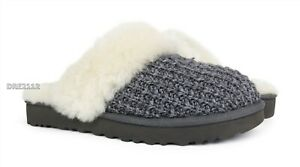 UGG Cozy Charcoal Knit Fur Slippers Womens Size 9 *NIB*