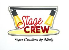 Craftecafe Mindy Theater Stage Crew premade paper piecing scrapbook title diecut