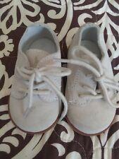 Boys Light Beige Suede Dress Shoes Ralph Lauren Brand Size 3 Months