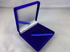 Blue Velvet Presentation Case 1.75 inch Challenge Coin Display Gift box Poker