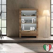 Credenza Vetrina in Rovere 2 ante - Land - Made in Italy