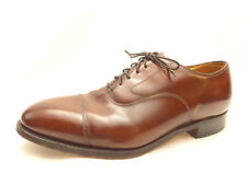 Mens Johnston and Murphy Optima Brown Leather Oxford Dress Shoes Size 8
