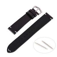 Mode 18-22mm Echtes Leder Armbanduhr Armband Armband Ersatz Vintage + Ersatz Pin