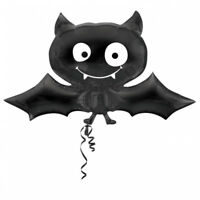 HALLOWEEN PARTY BLACK VAMPIRE BAT SUPERSHAPE FOIL BALLOON 60CM X 104CM ANAGRAM
