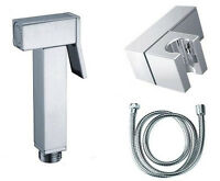 Bidet Shattaf Douche Spray Chrome Hygienic Toilet Shower Head Hose Set Square