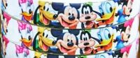 "7/8"" 2 YARDS Mickey Minnie Donald Grosgrain Ribbon Bows Scrapbooks Cards Crafts"