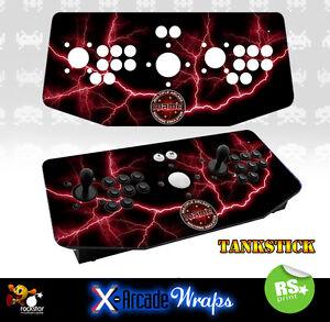 Mame V4 X Arcade Artwork Tankstick Overlay Graphic Sticker