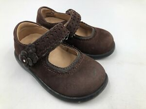 Stride Rite Brown Leather Mary Jane Shoes Toddler Girl 5.5W ~ Adria STG 3