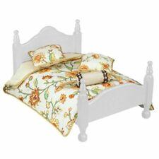 Dollhouse Flower Queen Bed Spread Comforter Reutter 18292 Miniature