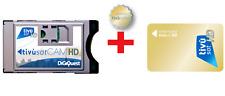 TIVUSAT CAM HD+CARD HD IN BUNDLE-COMPATIBILE CON TV E DECODER CON TUNER SAT/CI