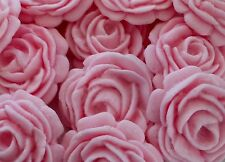 12 PASTEL PINK ROSES  Edible sugar flower decoration cupcakes topper
