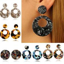 Geometric Round Drop Dangle Ear Stud Earrings Fashion Women Exaggeration Jewelry