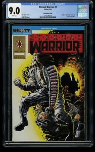 Eternal Warrior #1 CGC VF/NM 9.0 White Pages Gold Variant Cover!